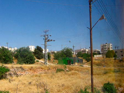 The green tent is an outpost of an expansion of the settlement between Kiryat Arba and Hebron