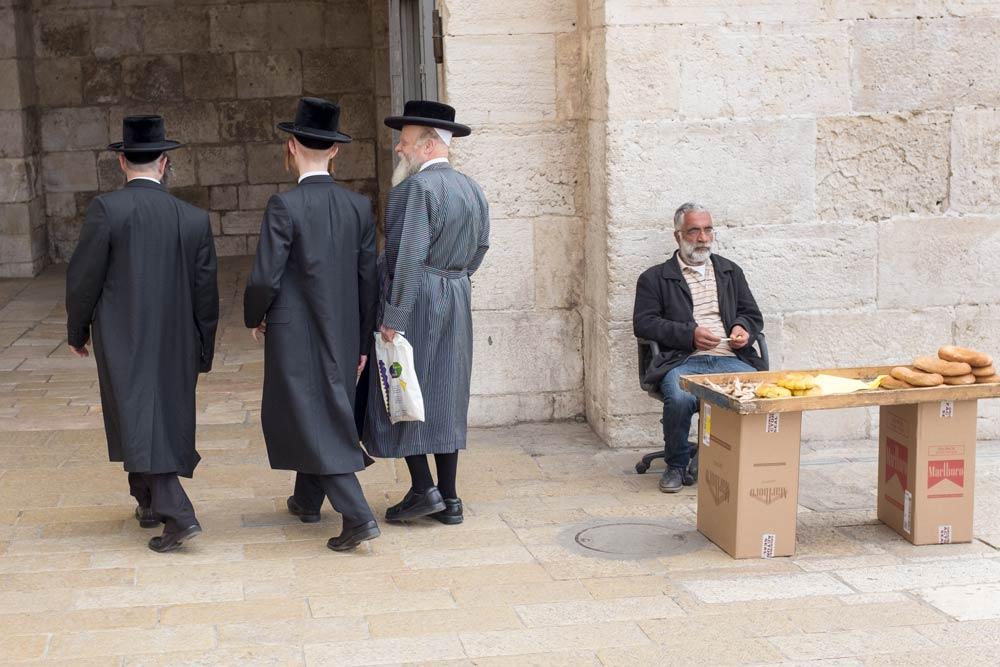 Walking in through Jaffa Gate