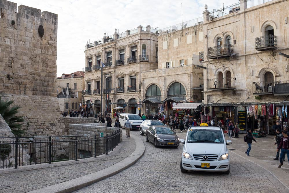 In the Old City, looking towards Jaffa Gate